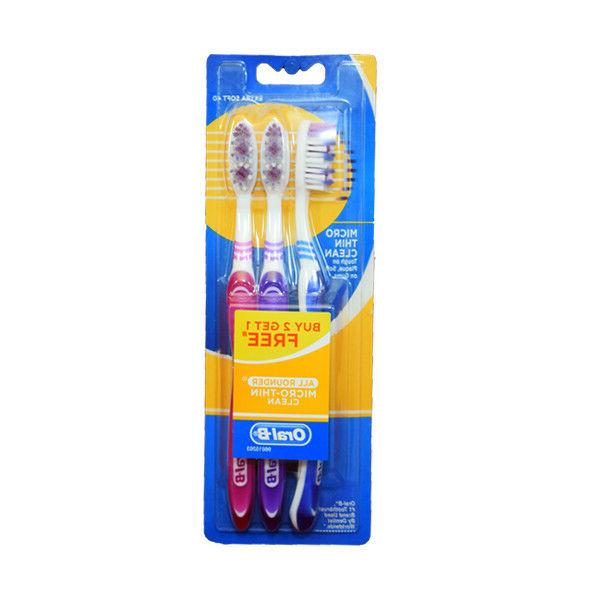 Oral-B Oralb Toothbrush 3 Bristles