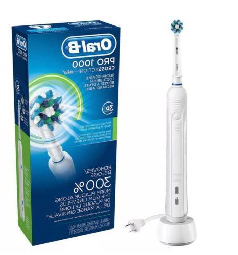 oral b pro 1000 crossaction 3d rechargeable