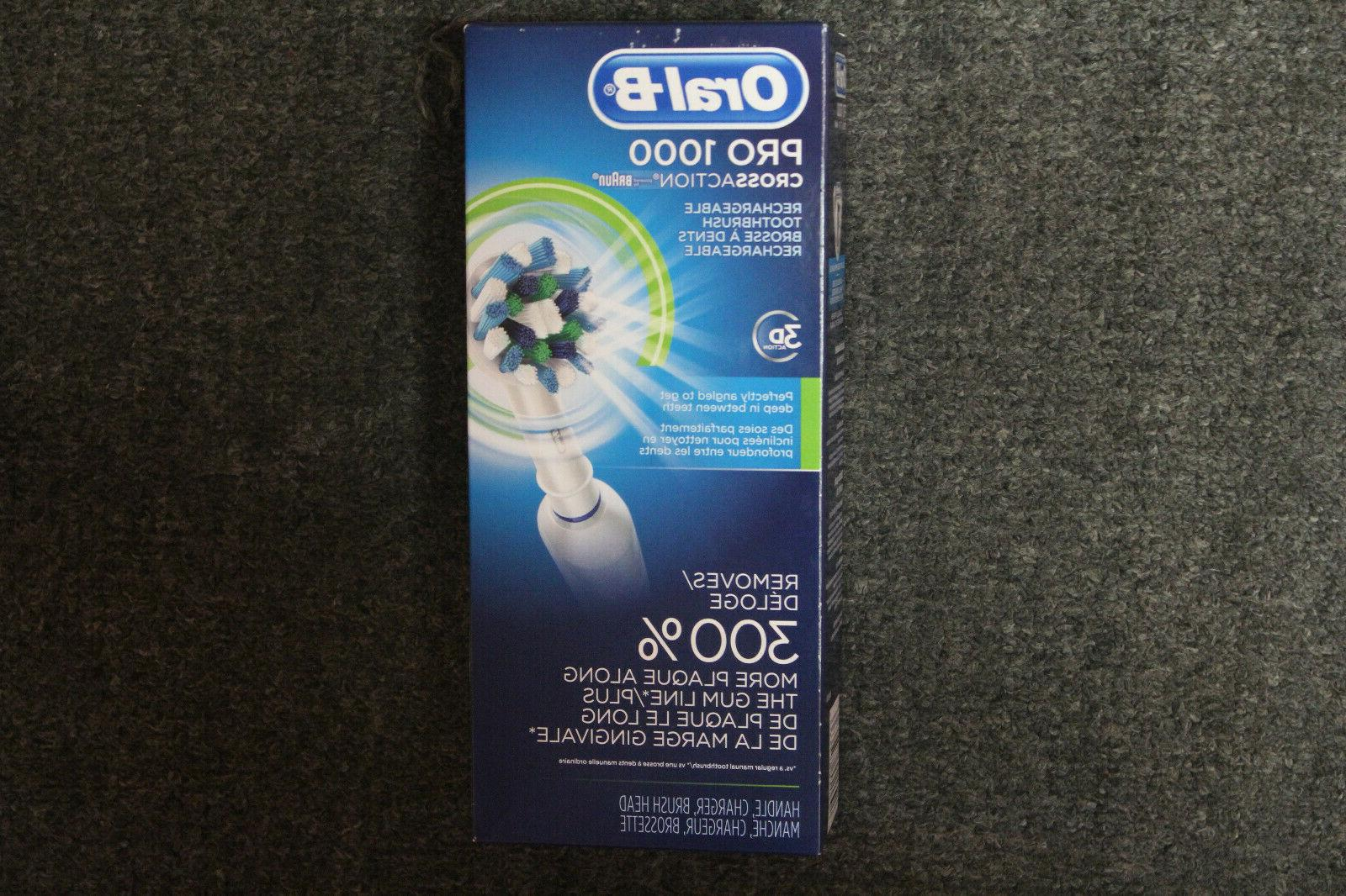 oral b pro 1000 crossaction electric toothbrush