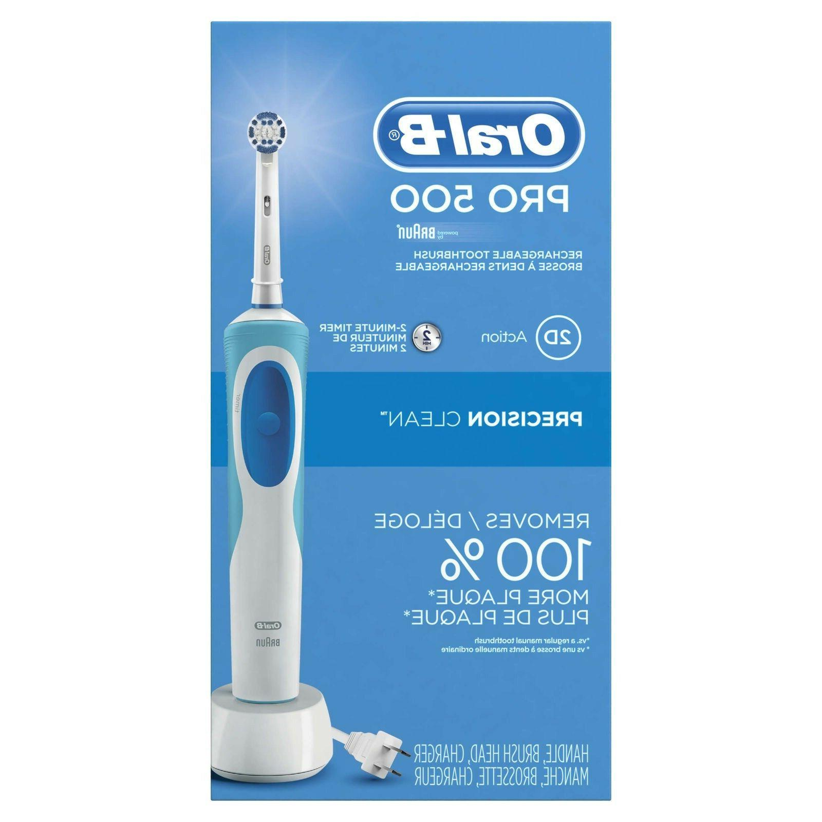 Oral-B Pro 500 Power Rechargeable Toothbrush by Braun