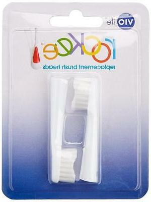 Violife 2TB Rockee Replacement Toothbrush Heads White 2 Coun