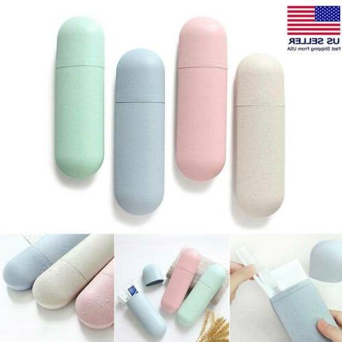 portable travel toothpaste toothbrush holder cover case