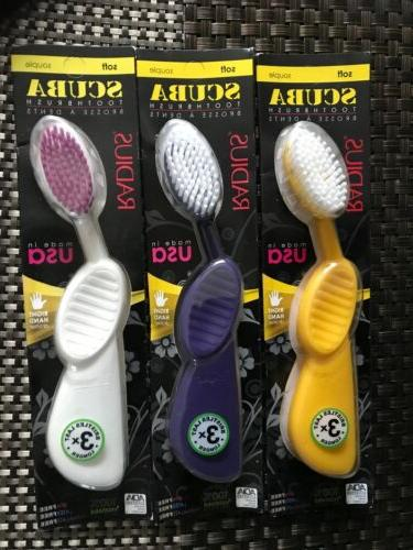 scuba toothbrush pack of 3 soft right