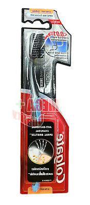 Colgate Slim Soft Charcoal Spiral Bristles Toothbrush Anti-b