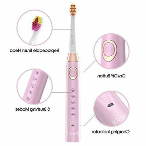 Electric Toothbrush Rechargeable Toothbrush Clean by Fairywill