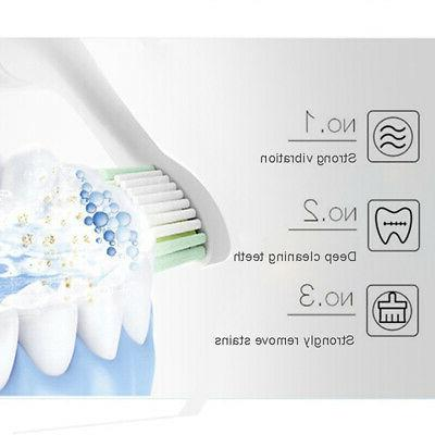 Sonic Toothbrush Rechargeable 5 Timer 4 Kids