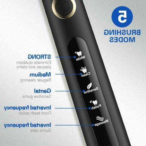 Fairywill Electric Toothbrush Sensitive Black Fast