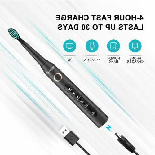 Fairywill Toothbrush Rechargeable 12 Brush Heads