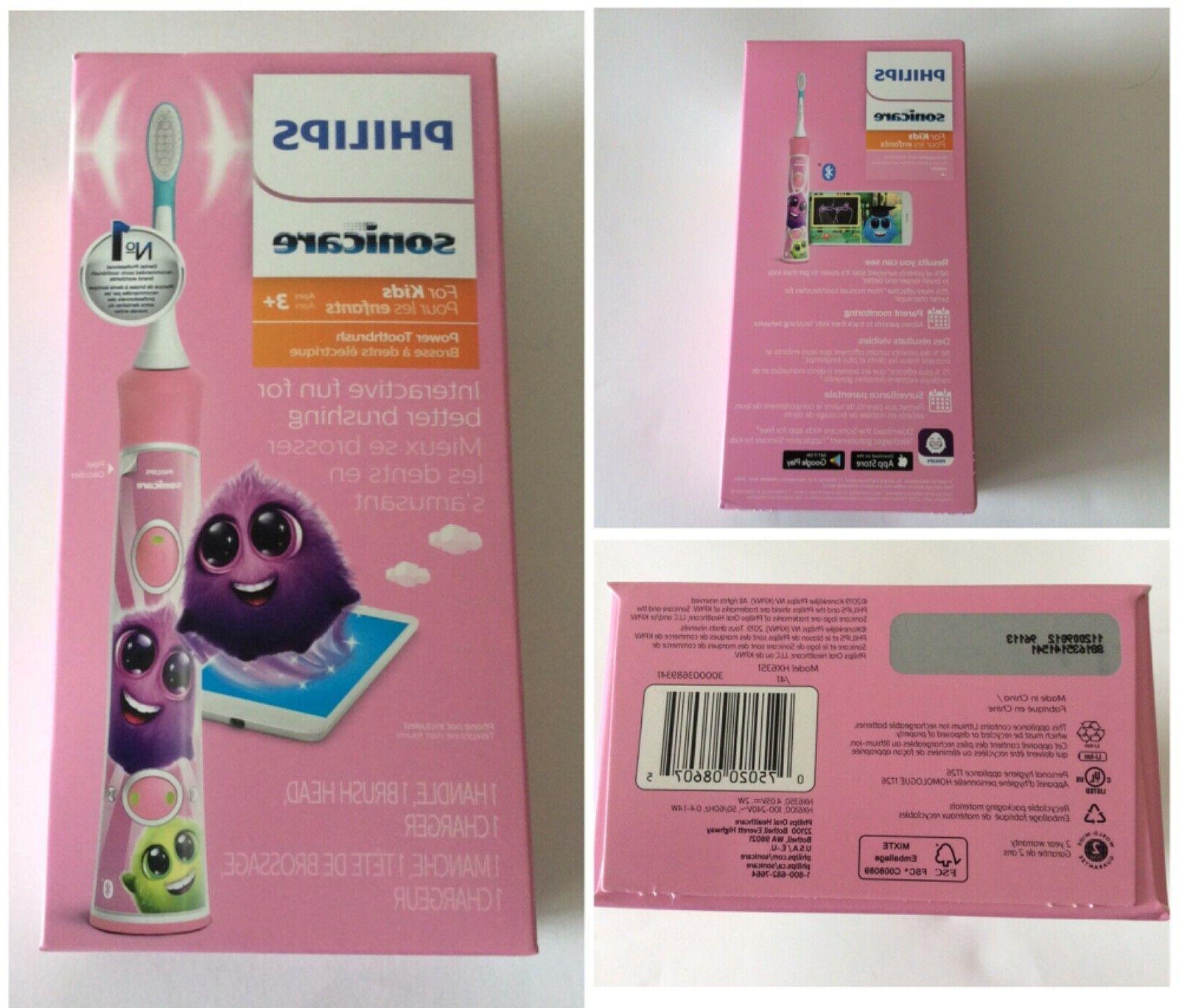 Philips - Sonicare For Kids Rechargeable Toothbrush - Pink/W