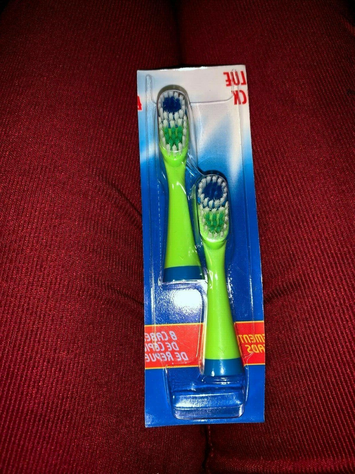 Crest SpinBrush Lime Green Toothbrush Replacement Brush Head