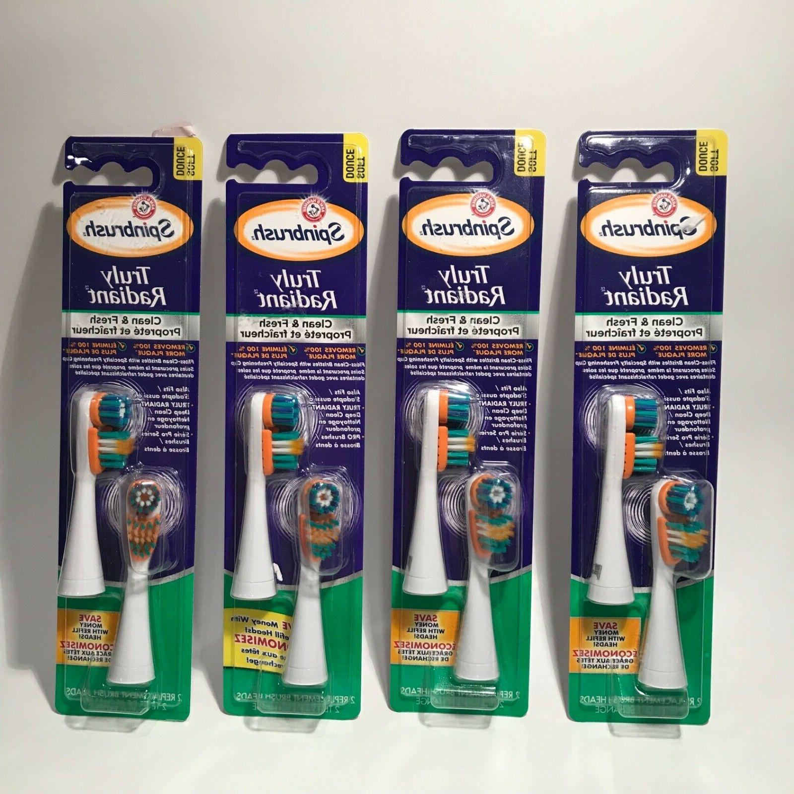 Spinbrush Pro+ Gum Health Replacement Heads Soft Arm & Hamme