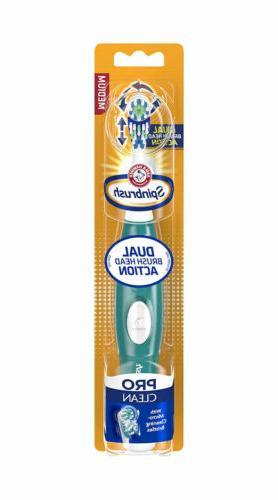 Sprinbrush Pro Clean Battery Powered Toothbrush, Medium, Col