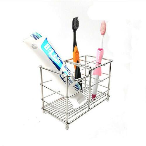ss stainless steel bathroom toothbrush toothpaste holder