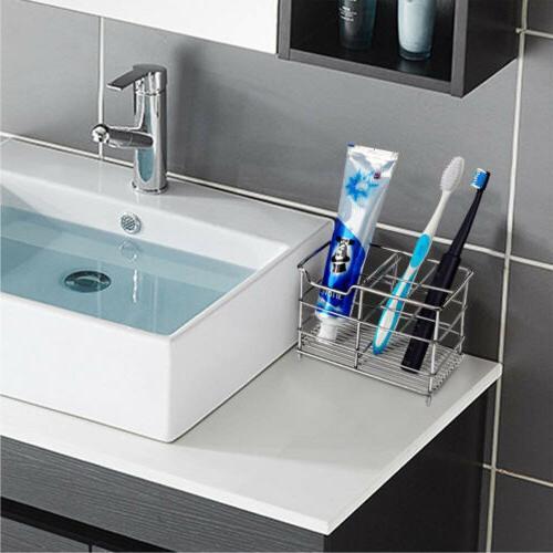 Bathroom Toothbrush Stainless Steel Razor Rack Organizer