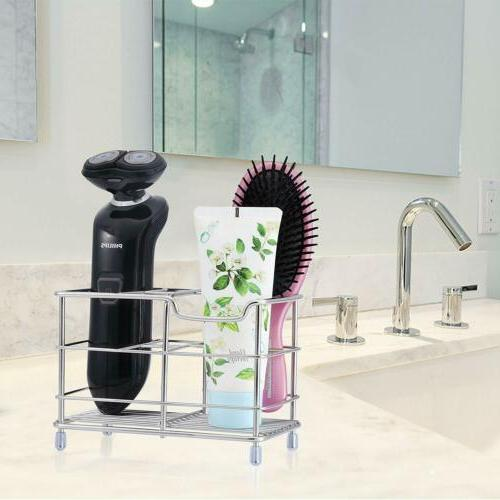 Stainless Steel Bathroom Toothbrush Toothpaste Holder Case S