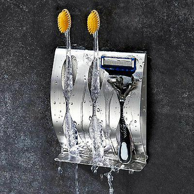 Stainless Steel Wall Stand Toothbrush Dispenser Toothpaste