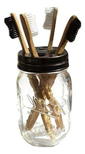 the southern jarring co mason jar toothbrush