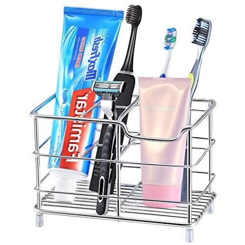 Famistar Toothbrush Holder, Stainless Steel Bathroom Storage