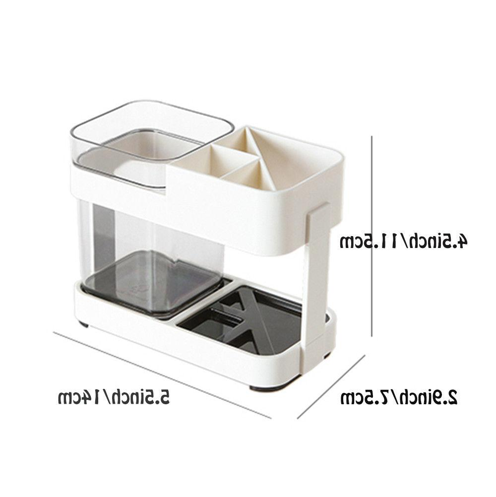Toothbrush Toothpaste Stand Bathroom White