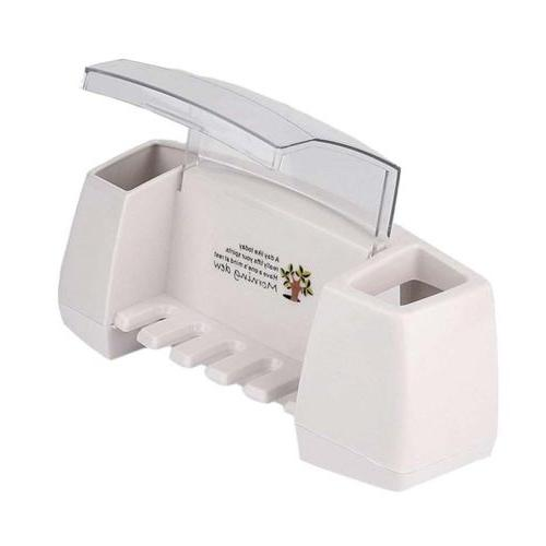 Toothpaste Holder Bathroom Storage Rack White