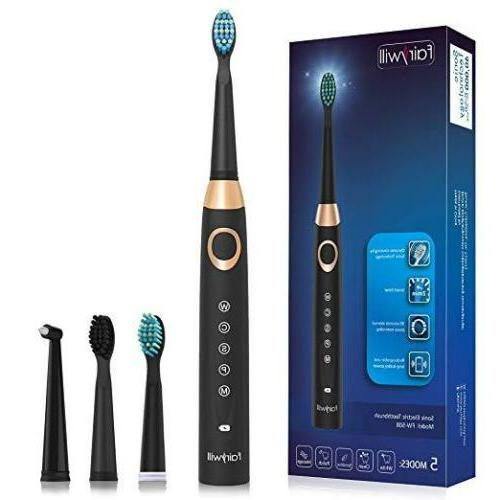 Fairywill Sonic Electric Toothbrush Rechargeable Travel 5 Di