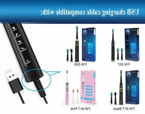 USB Cable for Fairywill Sonic Electric Toothbrush