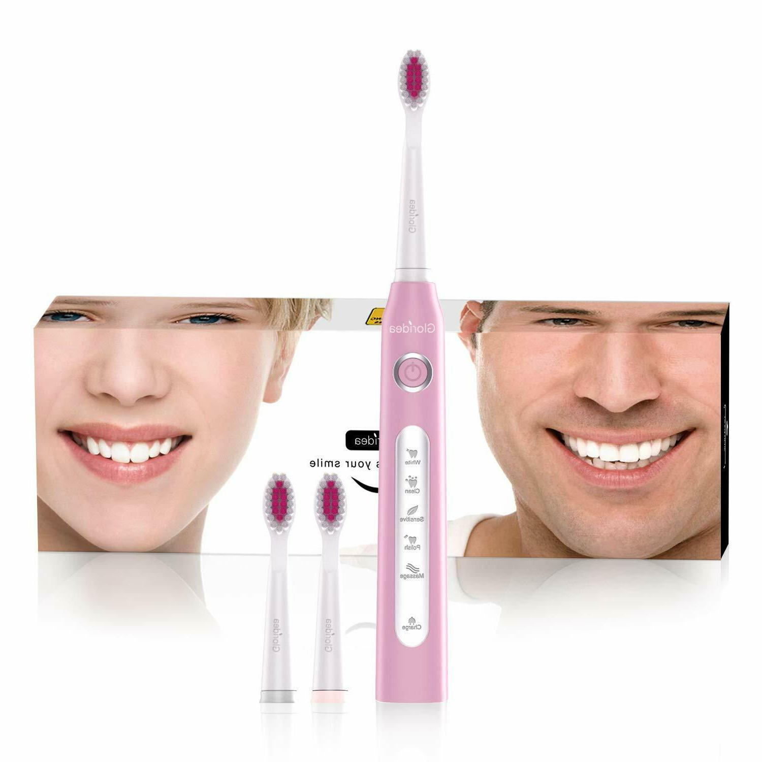 usb rechargeable toothbrush with smart timer waterproof