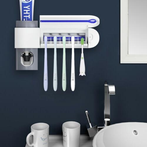 toothbrush holder and uv light sterilizer cleaner