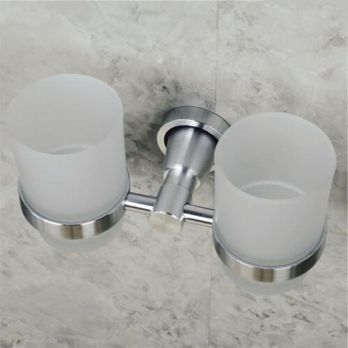 Wall Glass Cups Tumbler Rack Bathroom