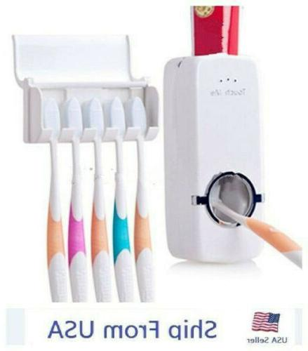 White Automatic Toothpaste Set Stand