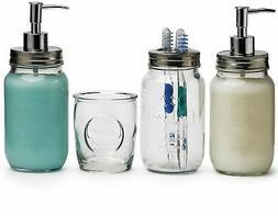 Circleware 32487 Lancaster Glass Bathroom Accessories , 24/1