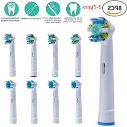 8pcs Replacement Toothbrush Heads Set for Oral B Braun Regul