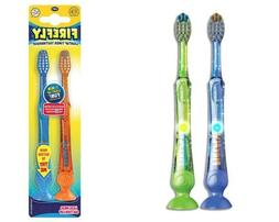 Firefly Light-up Timer Toothbrush with Suction Cup, 2-Count