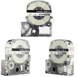 LK-3WBN Label Tape, LaBold 3 Pack Compatible Epson LabelWork