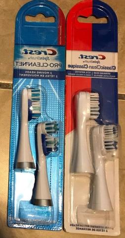 LOT 2 Crest Classic Pro Clean 2-Pack 4 SpinBrush Toothbrush