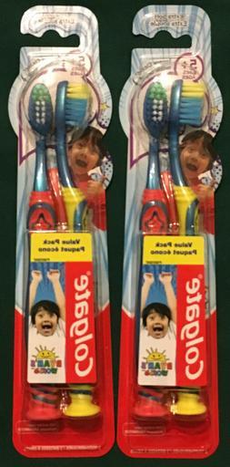 Lot of 2 Colgate Kids Extra-Soft Toothbrush, Ryan's World Va