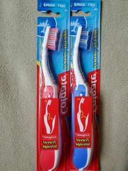 Lot of  Soft Colgate Travel Voyage 90 Toothbrush