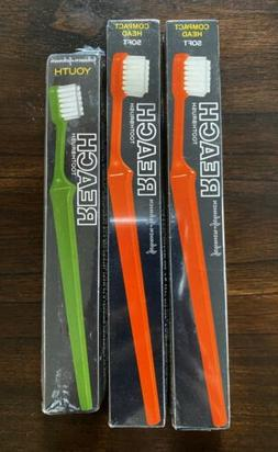 Lot Of 3-Vintage Reach Johnson & Johnson Toothbrushes Compac