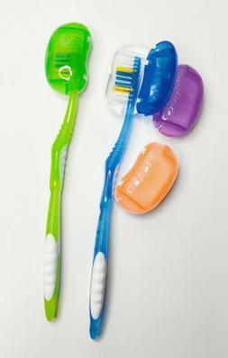 Lot of 8pc Plastic Travel Toothbrush Head Cover Portable Cas