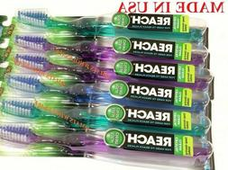 6 PCS  Reach Toothbrush MEDIUM Fresh Clean Healthy Mouth