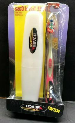 REACH MAX TOOTHBRUSH SOFT FULL HEAD # 82 NOS with case