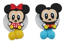 Finex® Mickey Mouse & Minnie Mouse Toothbrush Holders *Set