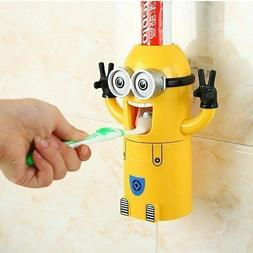 Minion Toothpaste Dispenser - Kids Toothbrush Holder - Minio