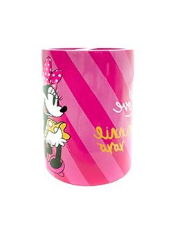 Disney Minnie Mouse XOXO Pink/White/Yellow Toothbrush Holder