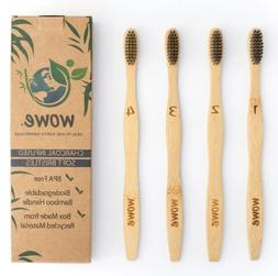 Wowe Natural Bamboo Toothbrush for Children Biodegradable Pa