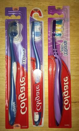 NEW! 3 COLGATE Toothbrushes Wave Soft Head