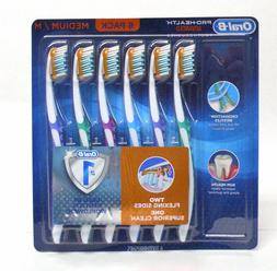New 6-Pack ~ Oral B Pro-Health Manual Advanced Toothbrush ~F