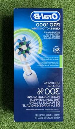 NEW BOX Oral-B Pro 1000 3D Cross Action Rechargeable Toothbr