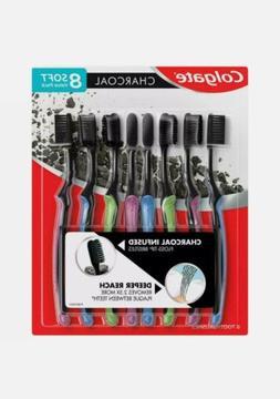 * NEW Colgate* Charcoal Infused Floss-Tip Slim Soft Toothbru
