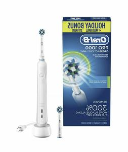 NEW Oral B PRO1000 CROSSACTION Rechargeable TOOTHBRUSH + 1 R